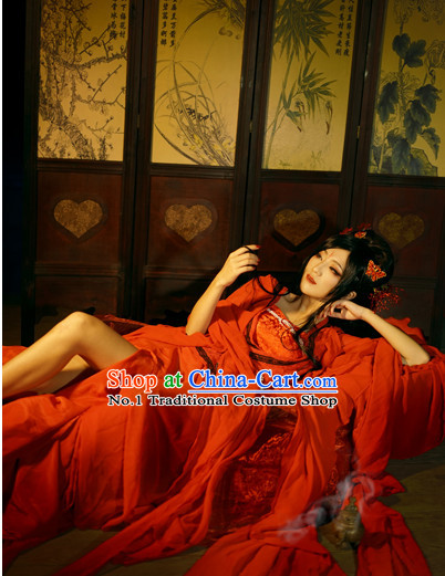 Chinese Costume Asian Fashion China Civilization Sexy Bridal Wedding Dress Traditional Clothing