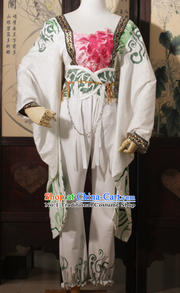 Chinese Costume Asian Fashion China Civilization Peony Halloween Costumes