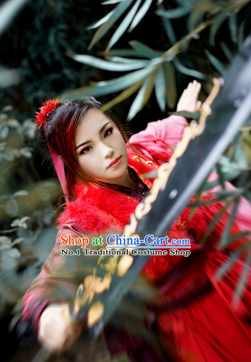 Chinese Costume Asian Fashion China Civilization Medieval Costumes Swordwoman Outfits