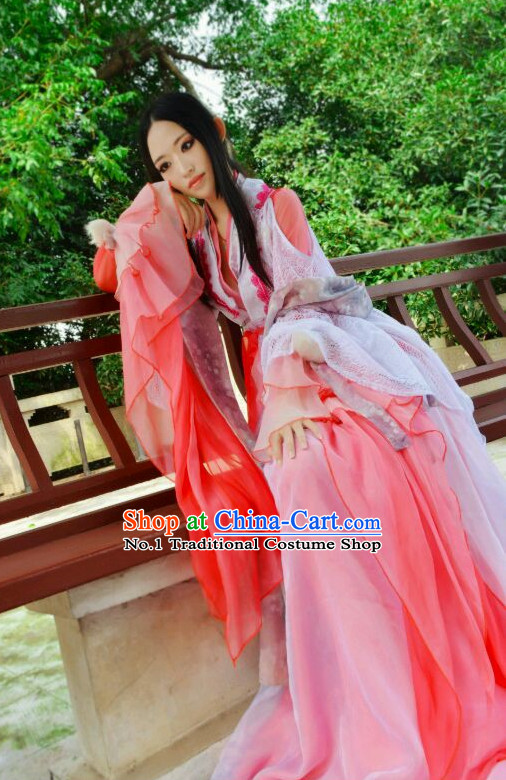 Chinese Kimono Costumes Asian Fashion Fairy Costume Complete Set