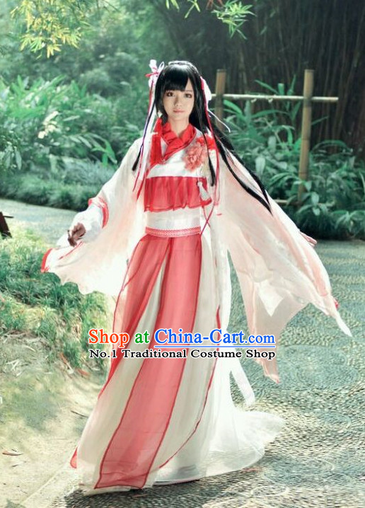 Chinese Kimono Costumes Asian Fashion Fairy Costume Complete Set for Girls
