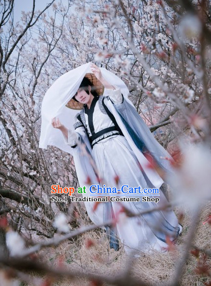 Asian Fashion Chinese Scholar Hanfu Costumes Complete Set for Men or Women