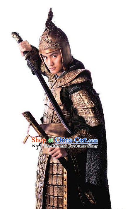 Asian Fashion Chinese General Armor Costumes Complete Set for Men