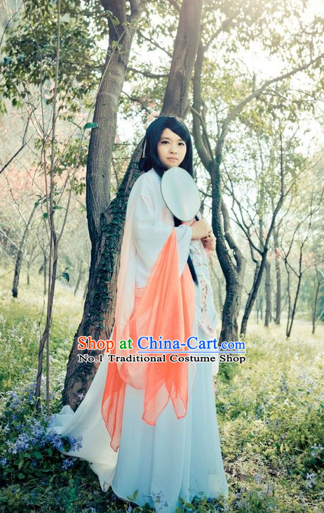 Asian Fashion Chinese Female Fairy Hanfu Clothing Complete Set for Women