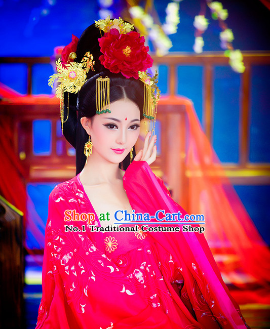 Tang Dynasty Chinese Empress Hair Jewelry for Women