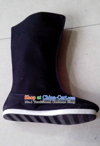 Handmade Asian China Stage Performance Traditional Black Boots online
