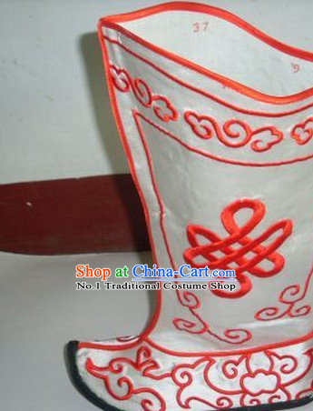 Chinese Traditional over the Knee Boots Ankle Boots