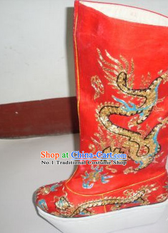Chinese Traditional Wedding Bridal over the Knee Boots Ankle Boots