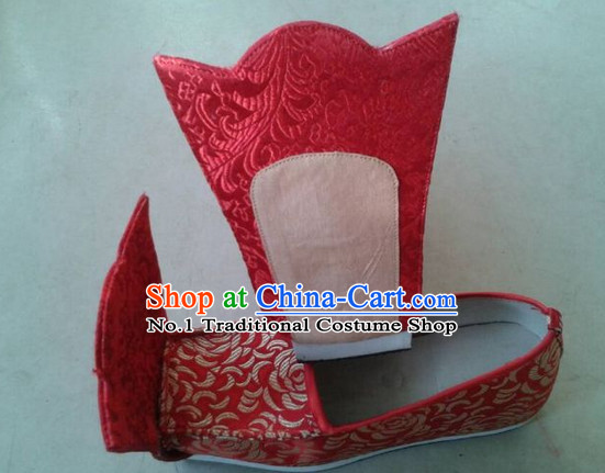 Handmade Chinese Traditional Bridal Ladies Shoes Footwear