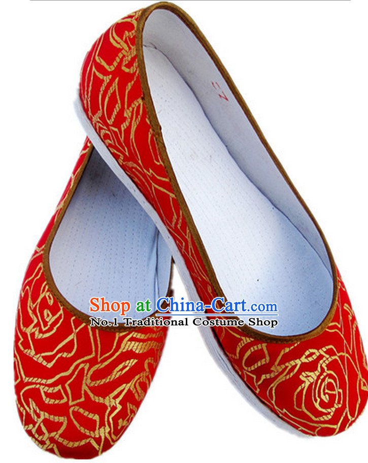 Handmade Chinese Traditional Wedding Shoes online Shopping Footwear