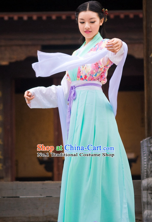 Asian Fashion Oriental Dresses Chinese Hanfu Plus Size Classy Clothes Complete Set