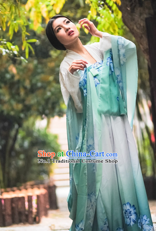 Asian Fashion Oriental Dresses Chinese Hanfu Plus Size Classy Dress Complete Set