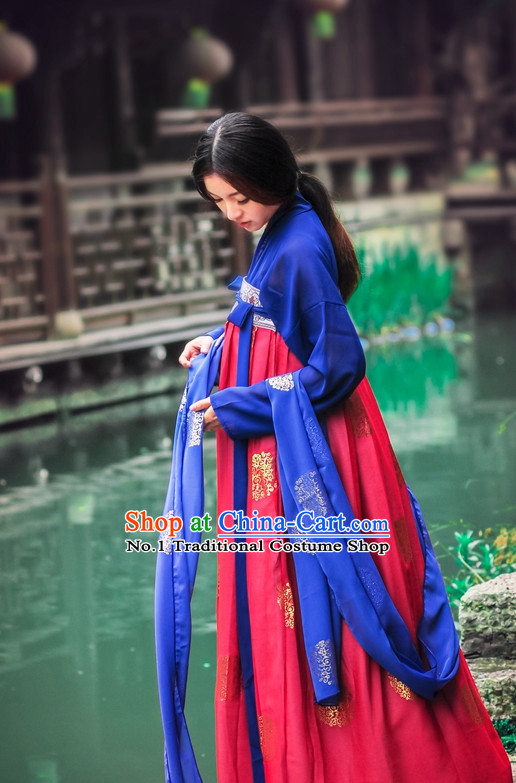 Traditional Chinese Dance Costumes Hanfu Ancient Clothing