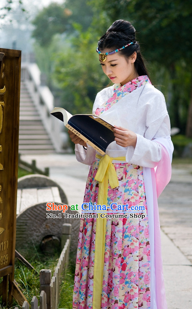Asian Fashion Oriental Dresses Chinese Hanfu Plus Size Classy Costume Complete Set