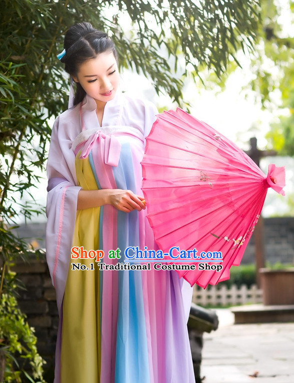 Asian Fashion Oriental Dresses Chinese Hanfu Plus Size Clothes Complete Set