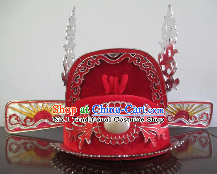 Asian Fashion Oriental Beijing Opera Wedding Bridegroom Scholar Hat