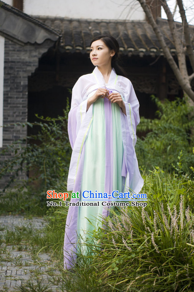 Asian Fashion Chinese Classical Hanfu Skirt Ladies Clothing Complete Set