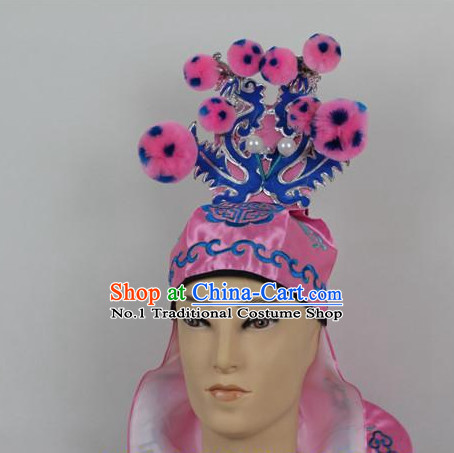 Oriental China Stage Performance Superhero Hat