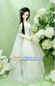 Chinese Fairy Costumes and Hair Accessories Complete Set for Women