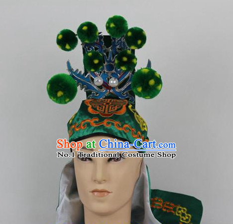 Chinese Traditional Peking Opera General Wusheng Hat