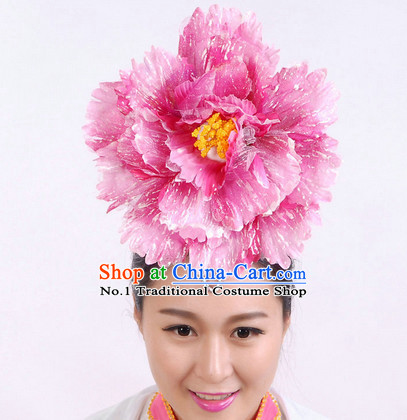 Chinese Classical Dance Big Peony Hair Decoration