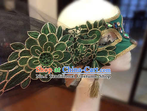 Custom Made Designer Handmade Facial Mask Hair Fascinators Hair Slides Headpieces Hair Ornaments Set