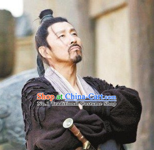 Chinese Ancient Scholar Black Wig for Men