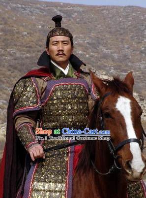 Asian Chinese General Armor Costumes for Men