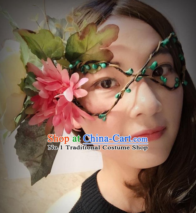 Flower Facial Mask Handmade Flower Hair Fascinators Hair Slides Headpieces Hair Ornaments