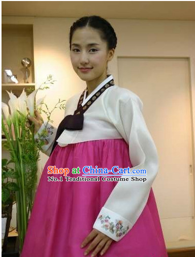 Korean Traditional Custom Made Dangui Hanbok Clothing Complete Set for Women