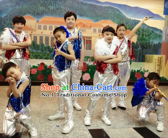Chinese Kids Drum Dance Costumes