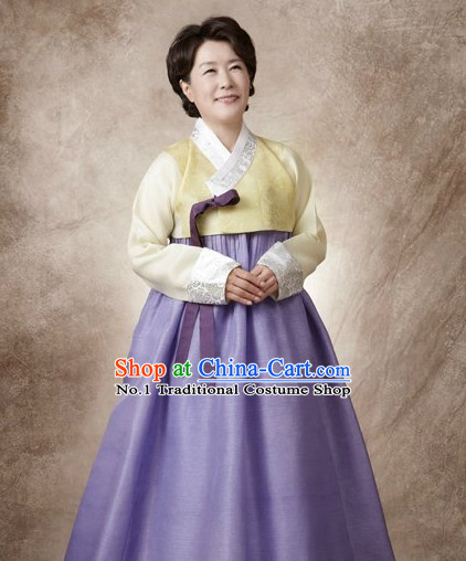 Traditional Korean Custom Made Special Day Mother Hanbok Costumes Complete Set for Ladies