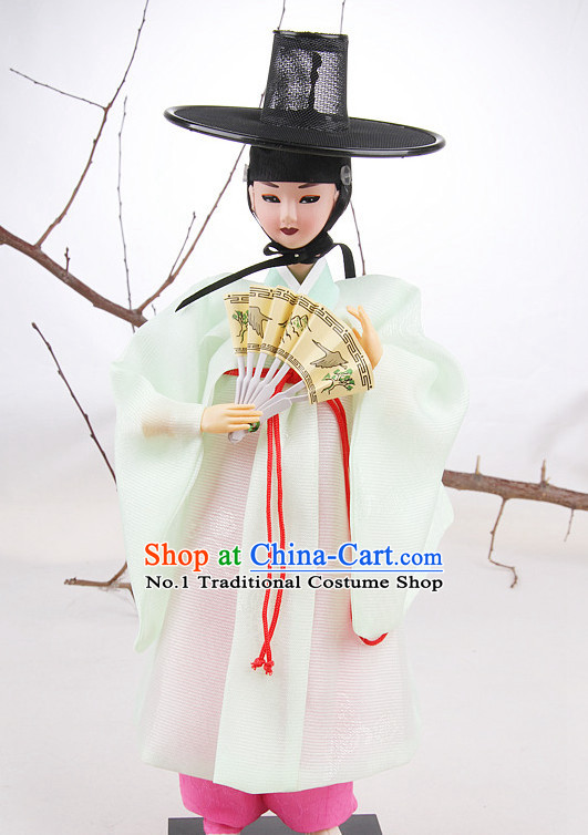 Korean Traditional Hanbok Scholar Statue