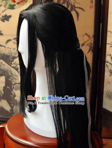 Chinese wigs cosplay wigs long black wigs ancient costumes hanfu