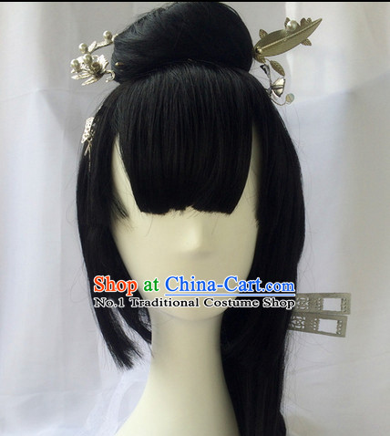 Asian Traditional Chinese Wigs Cosplay Wigs Ancient Costume Wigs Hair Pieces for Women