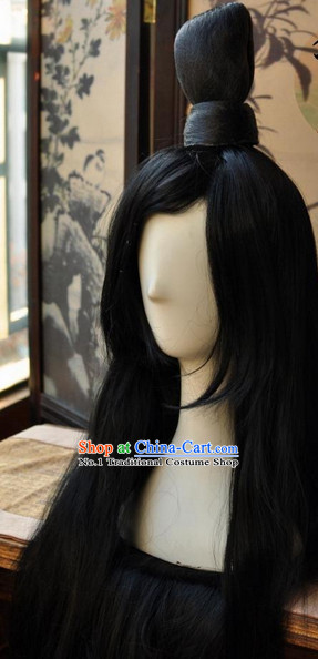 Asian Traditional Chinese Long Wig Ancient Costume Wigs for Men