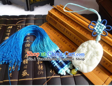 Chinese Traditional Hanfu Accessory Jade Belt Hanging Decoration