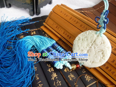 Chinese Traditional Costumes Jade Belt Accessories