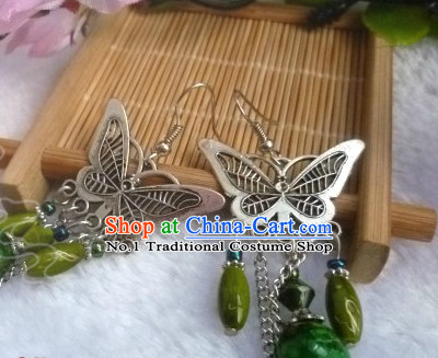 Chinese Traditional Female Butterfly Earrings