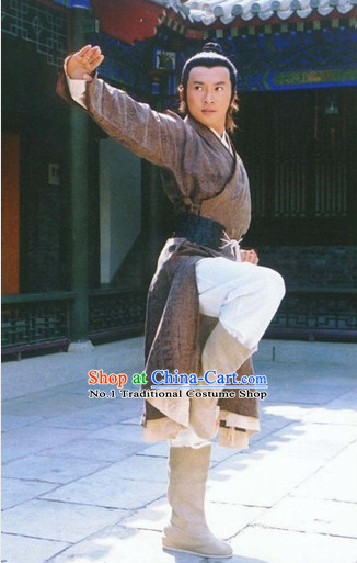 Chinese Ancient Kung Fu Master Superhero Costumes Complete Set for Men