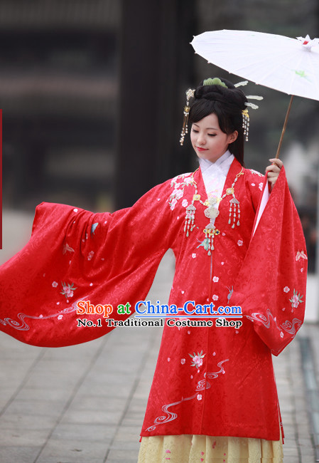 Chinese Ancient Wedding Dress Complete Set for Women