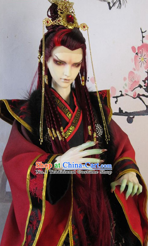 chinese traditional prince dress and hair accessories