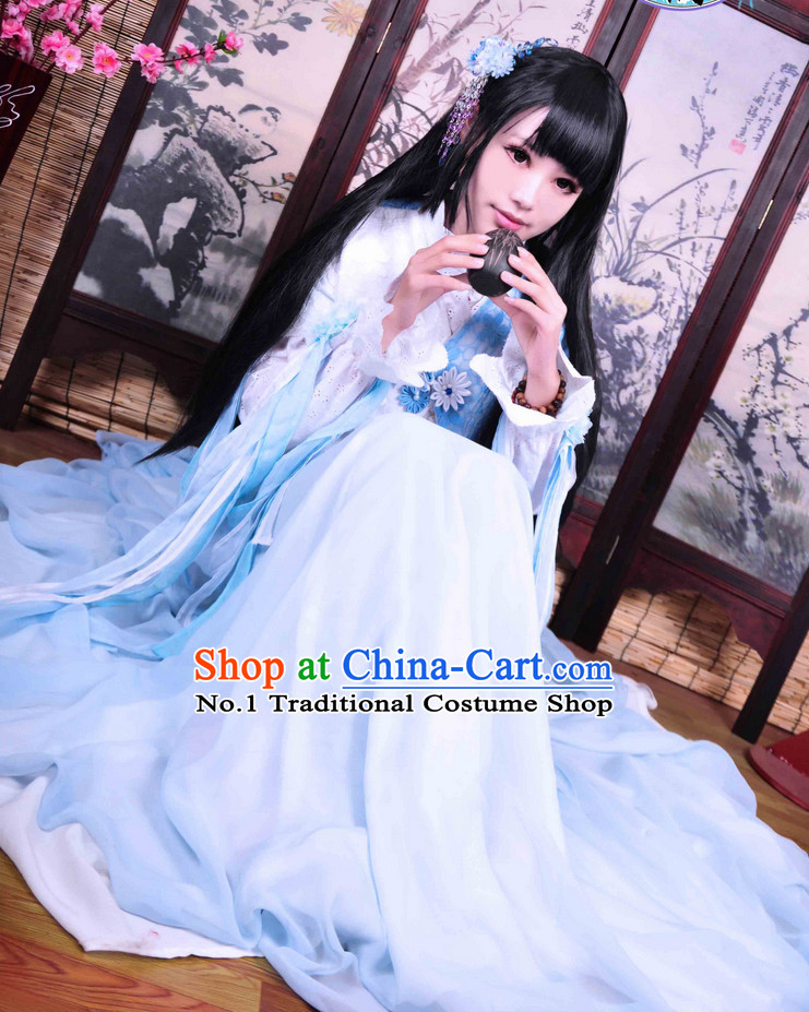 Chinese Traditional Fairy Hanfu Outfit Complete Set