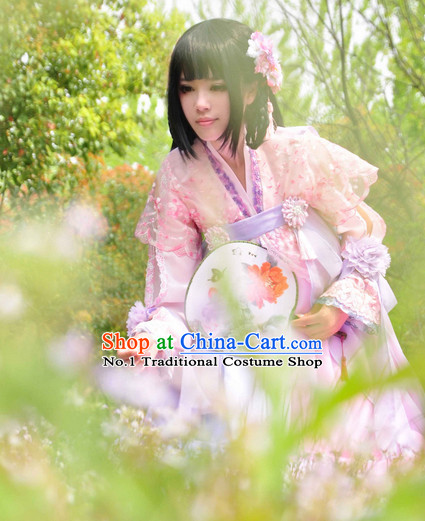 Chinese Traditional Fairy Costume and Hairpins Complete Set