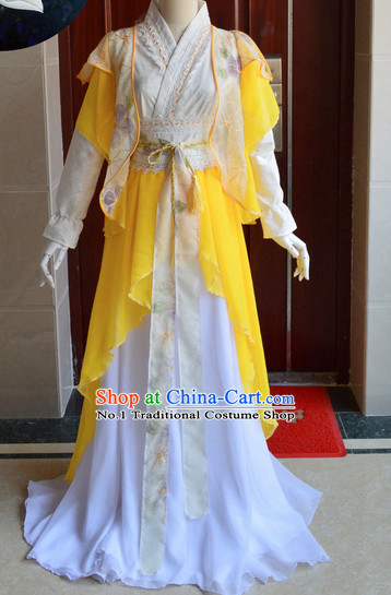 Chinese Ancient Swordsman Costumes Complete Set