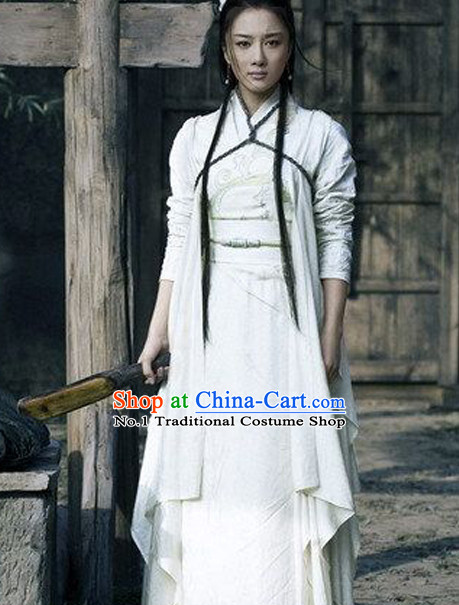 Chinese Classical Swordswoman Costumes Complete Set