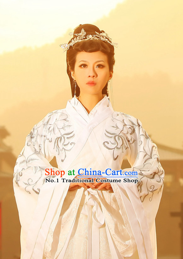 Chinese Classical Empress Clothes and Hair Accessories Complete Set
