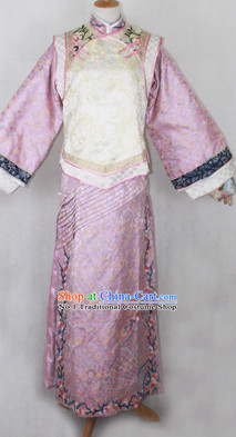 Chinese Qing Dynasty Manchu Female Long Robe