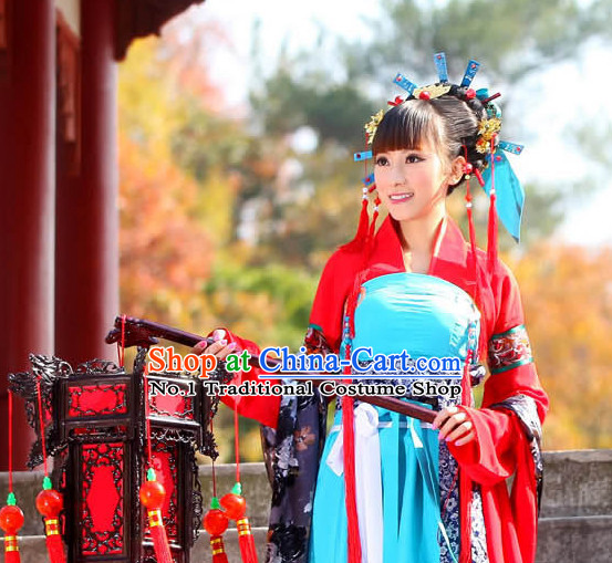 China Fashon Kimono Dress and Hair Accessories Full Set