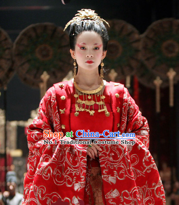 China Wedding Chinese Ancient Costume Bridal Wedding Clothing and Hair Jewelry
